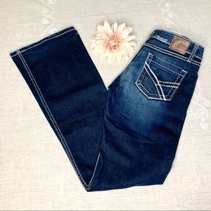 Buckle BKE Bootcut Jeans LONG TALL Bling Stretch